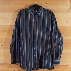 GAP Pinstripe Blue Men's Dress Shirt